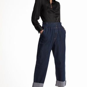 Zara High Rise Slouchy Jeans With Darts Size 6